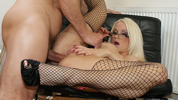 Sexy Stacy Silver Anal Fucked In Lingerie